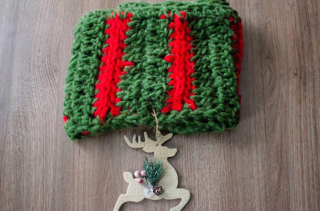 Кръгъл шал Коледен венец